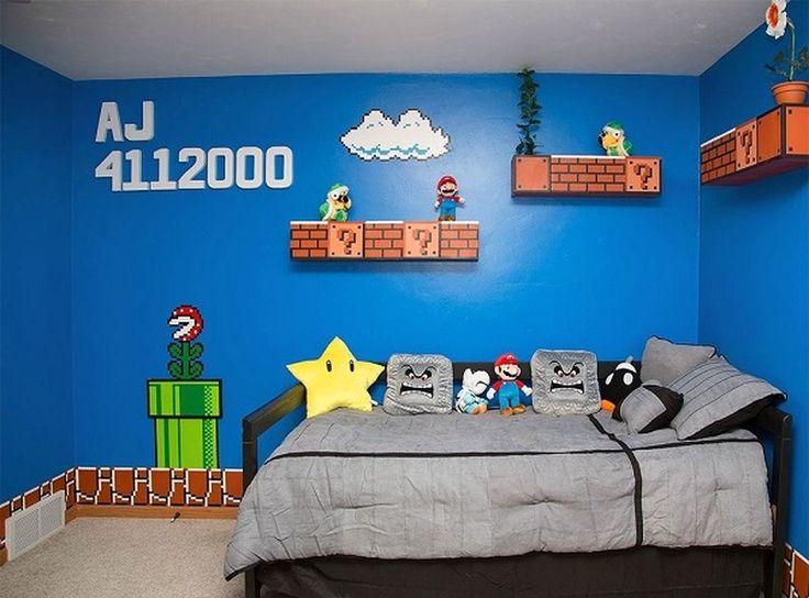 Humour Drôle Fun : Thème Minecraft ou Mario pour la chambre du fiston ?