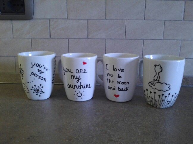 Tazze porcellana, pennarelli porcelain / Mug with porcelain painter