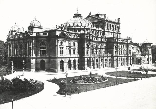 Teatr Miejski w Krakowie, 1898, fot. I. Krieger, archiwum Teatru im. Słowackiego