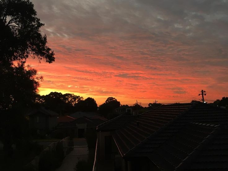 Summer sunset  . Anyone else watching the tennis final? Im glued to the TV and my hubby just pointed out this amazing sky outside. Go Roger!!!