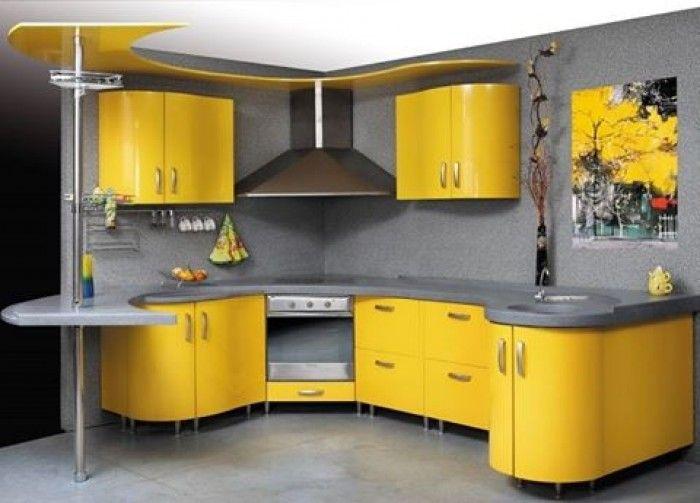 Amazing Yellow Kitchen Design Idea