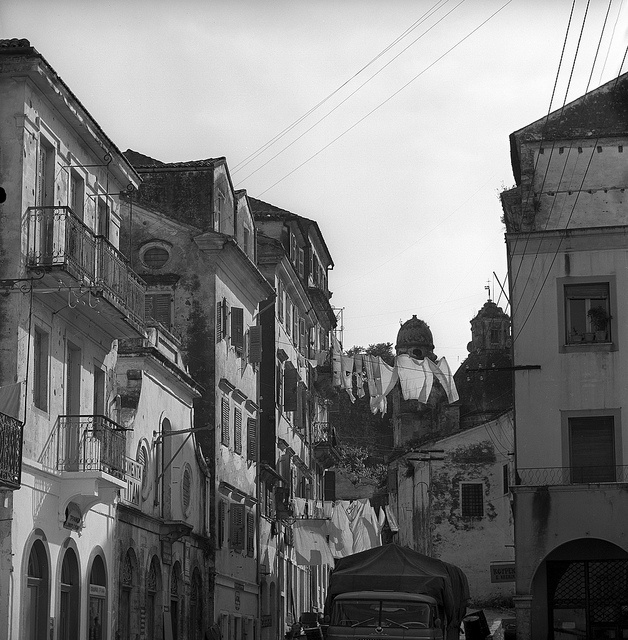 corfu, greece  may 1959    solomou street    set includes photographs of buildings, clotheslines and streetlife in the capital city of corfu. from nick and maggie's spring 1959 trip to europe.    part of an archival project, featuring the photographs of nick dewolf