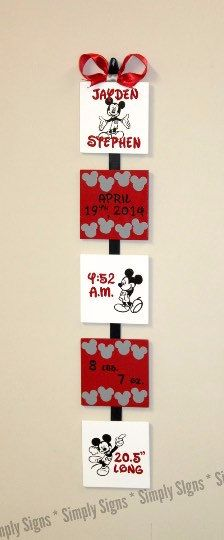 #simplysignsbyjessica #mickeymouse #birthday #woodensign #disney #wallart…