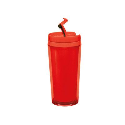 Red thermic mug - perfect for a trip :)