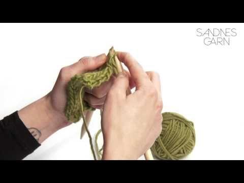 Sandnes Garn - Hvordan øke antall masker - YouTube