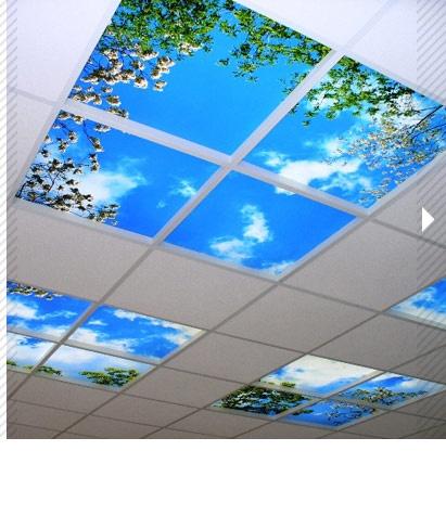 Langlois sobreti dalles plafond translucides imprim es for Dalle plafond design