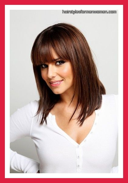 Hairstyles with Bangs and Layers for Medium Hair picture and slideshow