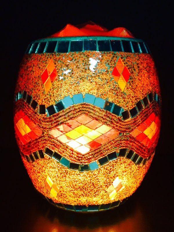Glass Jar Lamp - Gold Silver