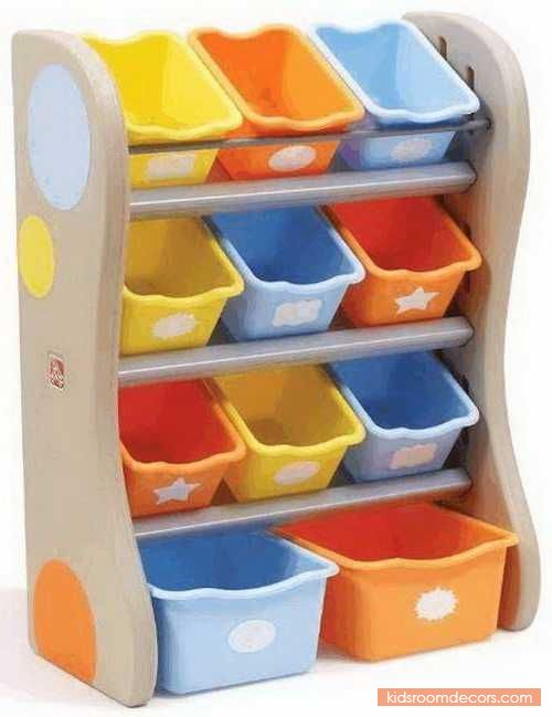 Great And Resilient Toy Organizer For Young Children With 11 Open Storage Bins And Vibrant Tropical Colours - http://www.kidsroomdecors.com/kids-room-decorating/great-and-resilient-toy-organizer-for-young-children-with-11-open-storage-bins-and-vibrant-tropical-colours.html