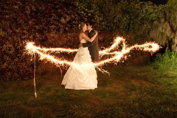 Light painting wedding