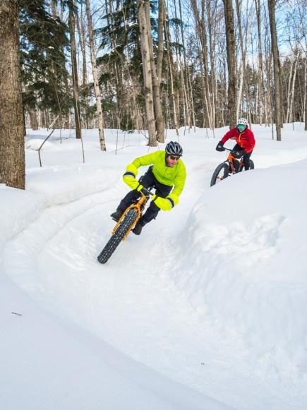 Get out this winter and explore the snow on a fat bike! The Midwest epicenter for fat biking is the college town of Marquette in Michigan's Upper Peninsula, but you'll find outfitters renting the bikes all over states like Minnesota and Wisconsin. Details: http://www.midwestliving.com/travel/around-the-region/12-ways-to-own-winter/?page=3