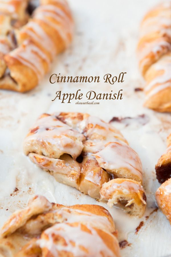 cinnamon roll apple danishes that are so darn easy and totally our favorite! ohsweetbasil.com