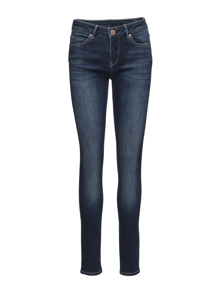 DAY - 2ND Sally Midnight Button and zip closure Logo detail Subtle fading Classic 5 pocket styling Skinny fit Stretch fabric Classic Excellent quality and fit Timeless Jeans