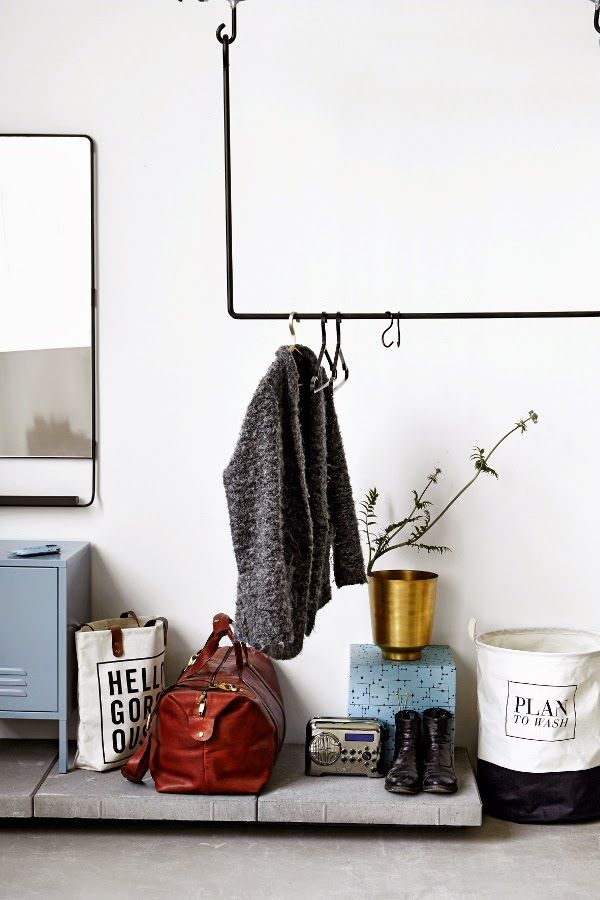 metal clothes rail house doctor via bodie and fou
