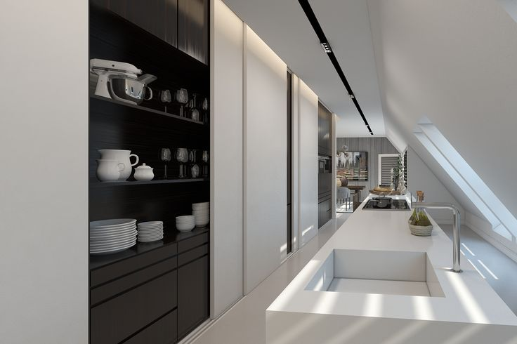KITCHEN 2 Residential design by Domestic Design. Visual by Ando Studio