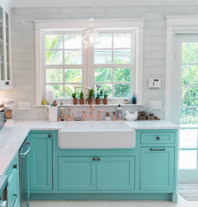 Custom Kitchen With Turquoise Cabinets Home Bunch Interior Design Ideas Blue Kitchen Cabinets Kitchen Design Turquoise Cabinets