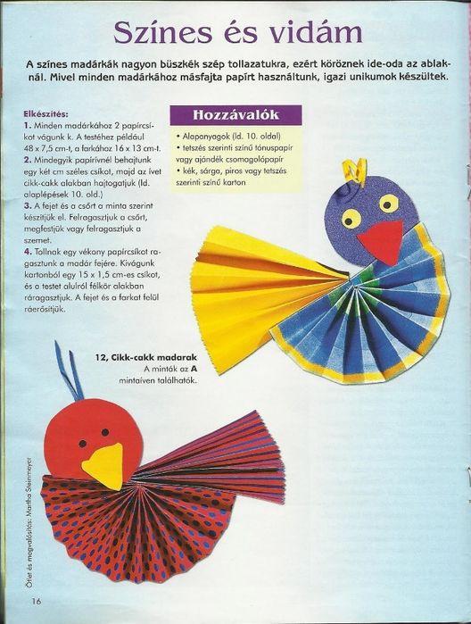 Vogels knutselen met kleuters