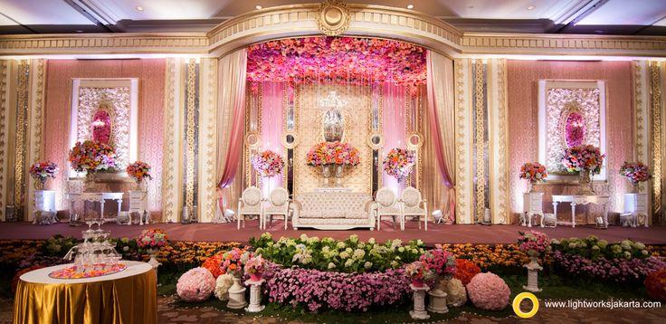 Edmund and Sulfina's Wedding Reception; Venue at Shangri-La Hotel; Decorated by Grasida Decoration; Lighting by Lightworks Jakarta  www.lightworksjakarta.com