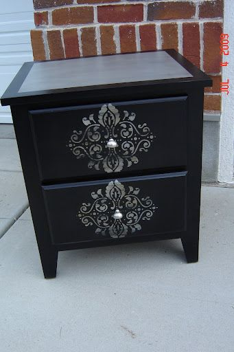 Refinishing idea for night stand.