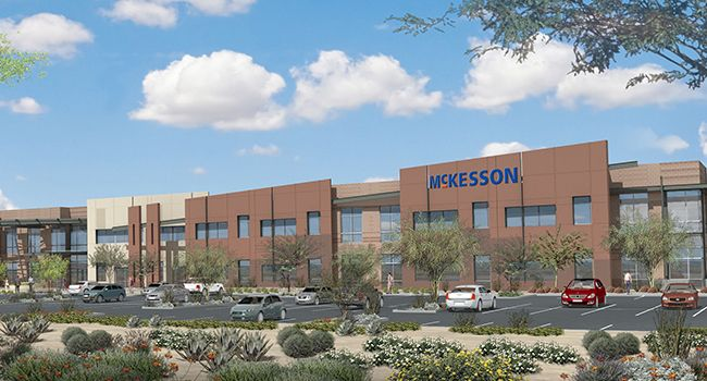 Construction starts on McKesson Corporation offices in Scottsdale - Ryan Companies broke ground Wednesday on a 271,000-square-foot, two-story twinned office complex at the Chaparral Commerce Center, which will serve as McKesson Corporation's regional headquarters. Upon completion in 2017, the new building will be home to McKesson's existing Sc... - http://azbigmedia.com/azre-magazine/construction-starts-mckesson-corporation-offices-scottsdale