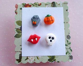 Halloween pendientes Halloween joyería mucha calabaza Halloween traje regalo de Halloween de la pendientes de cráneo pendientes otoño joyería otoño