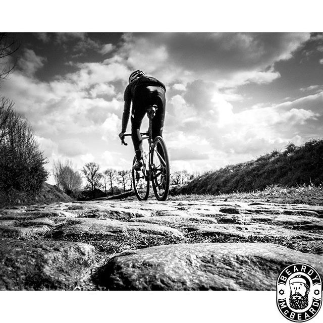 Almost time to say goodbye to the perfectly maintained cobbles of Flanders for the dilapidated Pave of France.  #cobbles #parisroubaix #rondevanvlaanderen #rvv #bergs #pave