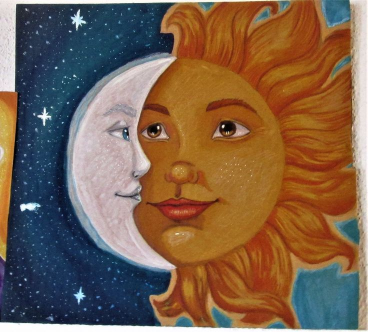 My work , the sun and the moon