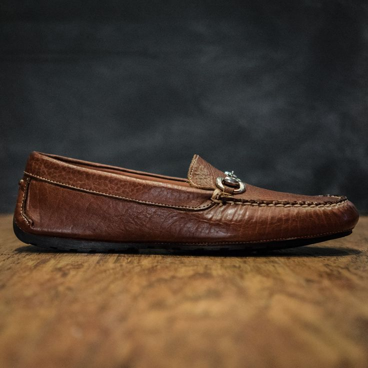 Laramie Men's Bit Loafers Made With Bison Leather