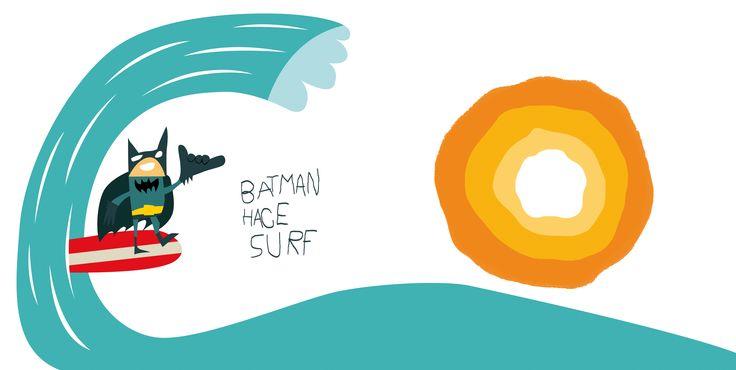 Batman hace Surf