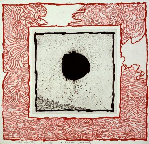 Pierre Alechinsky - Soleil noir III