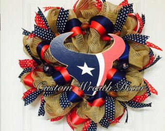 Houston Texans Wreath by HighMaintenanceDes on Etsy