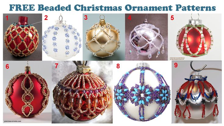 FREE PATTERNS BEADED CHRISTMAS ORNAMENTS! CHECK THEM OUT!