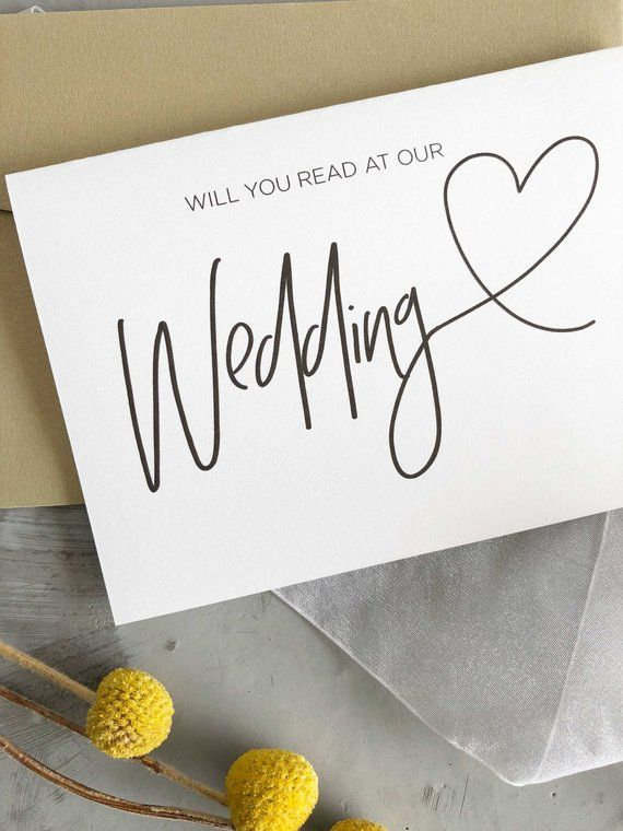 Will You Read At Our Wedding Card Wedding Reader Gift Etsy Wedding Cards Gifts For Wedding Party Our Wedding