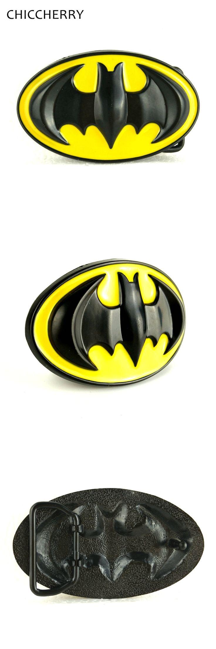 ONLY BUCKLE! Yellow And Black Batman Belt Buckle Metal 3D Hebillas Cinturon Fivela Cowboy Cool Fibbia for Mens Belts Accessories