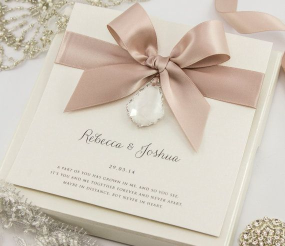 Crystal Wedding Invitation by TheBoutiquePaperCo on Etsy