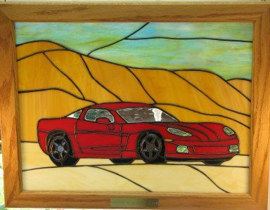 stained glass corvette | Corvette Garage (Models)