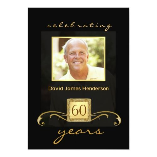 60th Birthday Party Invitations - Formal for Men