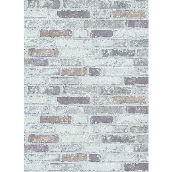 Bryce Faux Brick Wallpaper in Grey design by BD Wall ($50) ❤ liked on Polyvore featuring home, home decor, wallpaper, wallpaper samples, plank wallpaper, gray wallpaper, faux wallpaper, grey wallpaper and faux wood panels