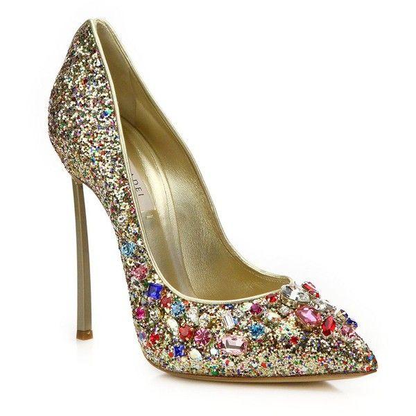 2b3a43e2239 Casadei Glittered Jewel-Embellished Pumps ( 1