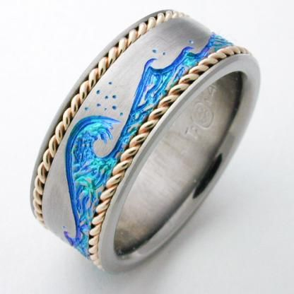 Ring shown is 8.5 mm, size 9.