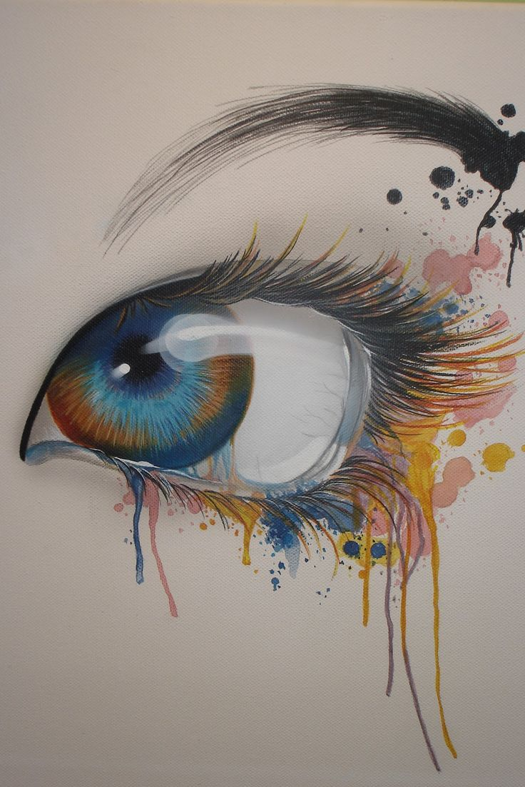 Beautiful eye illustration images pinterest for Beautiful painting designs