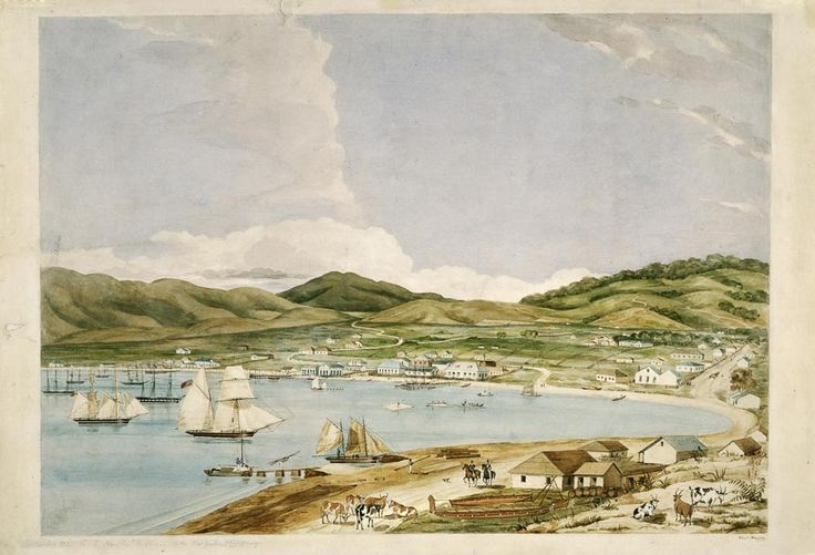 Wellington Harbour by Charles Heaphy | NZHistory, New Zealand history online