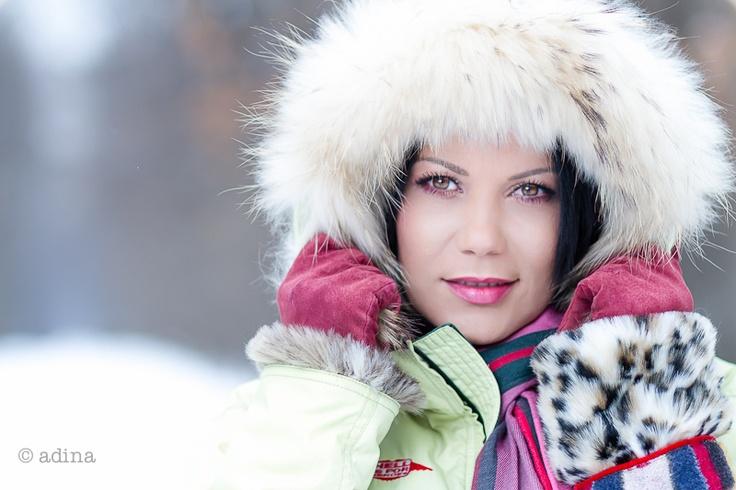 Raluca, ready for winter.