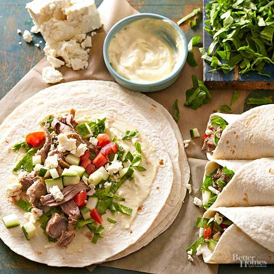 Lamb isn't just for special occasions. In fact, it's a regular part of the Mediterranean diet along with fresh produce. Our veggie-packed wrap invites you to eat tender, slow-cooked lamb for a healthy, fresh lunch.