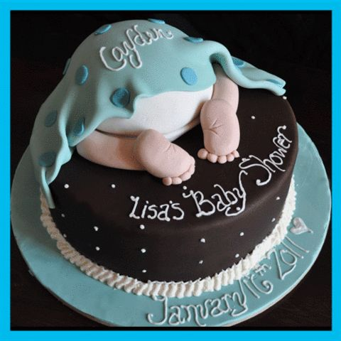 Blue Sheep Bake Shop — The Baby Rump Baby Shower Cake