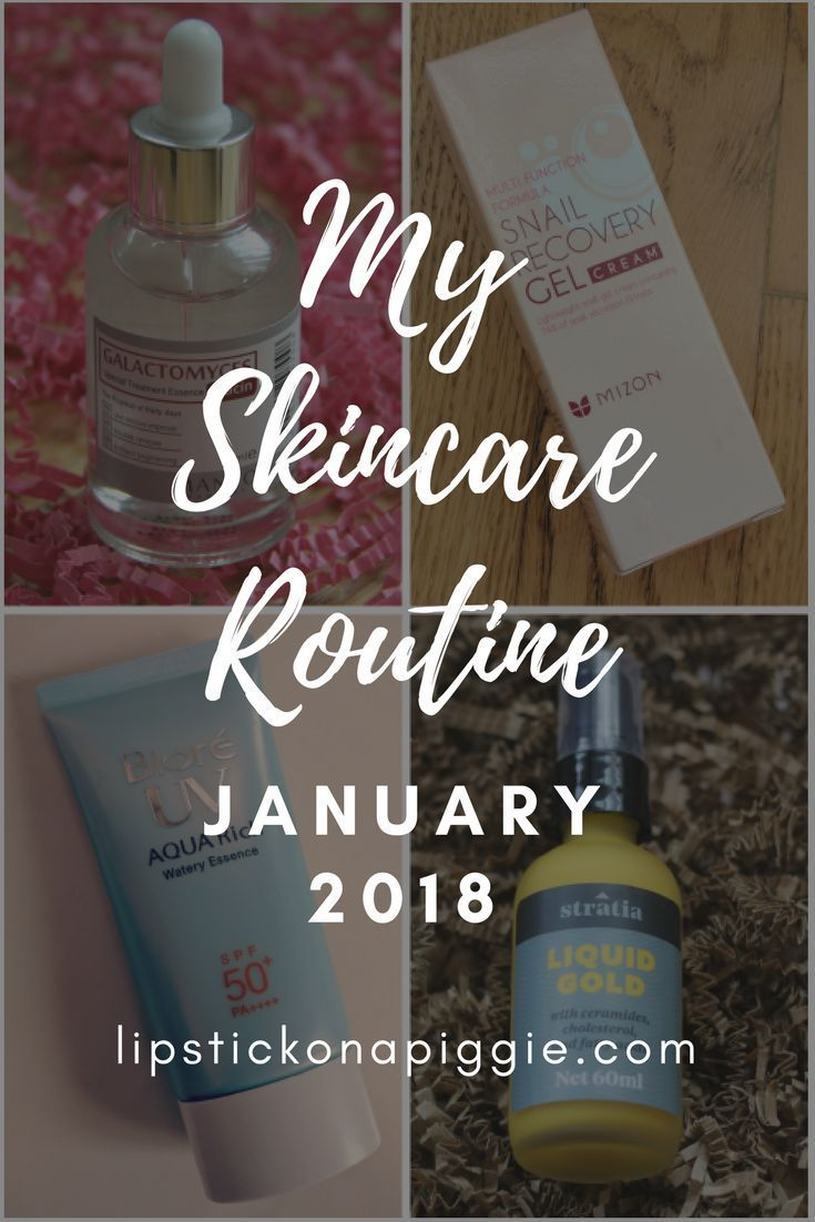 My Skincare Routine January 2018 Lipstick On A Piggie Skin Care Routine Skin Care Updated Skincare