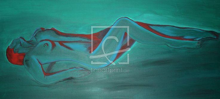 Ihre Bilder auf FineArtPrint verkaufen 10461162 TuttiCelle Akt  weiblich  Akstudie  liegender Akt  liegend  Körper   Frau  grün  rot  Malerei  Acrylmalerei  Aktmalerei  Gemälde  K