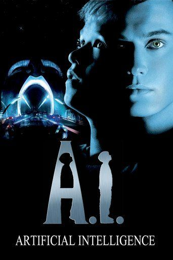 A.I. Artificial Intelligence (2001)   http://www.getgrandmovies.top/movies/17733-a.i.-artificial-intelligence   Eleven-year-old David is the first android with human feelings. He is adopted by the Swinton family to test his ability to function. Before they are done testing him though David goes off on his own following his wish to be a human. He is on an odyssey to understand the secret to his existence. A science fiction film from Steven Spielberg taken over from Stanley Kubrick.