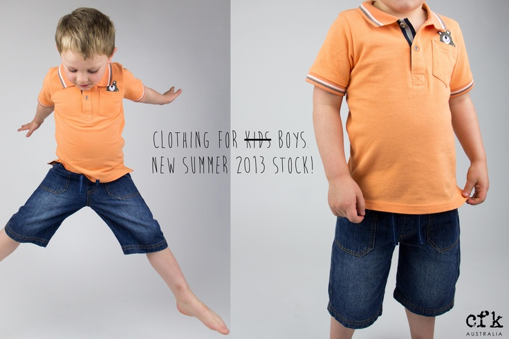 Boys new Summer 2013 range - available now in sizes 00 - 4 http://www.clothingforkids.com.au/product/search/brand-cfk-gender-boys