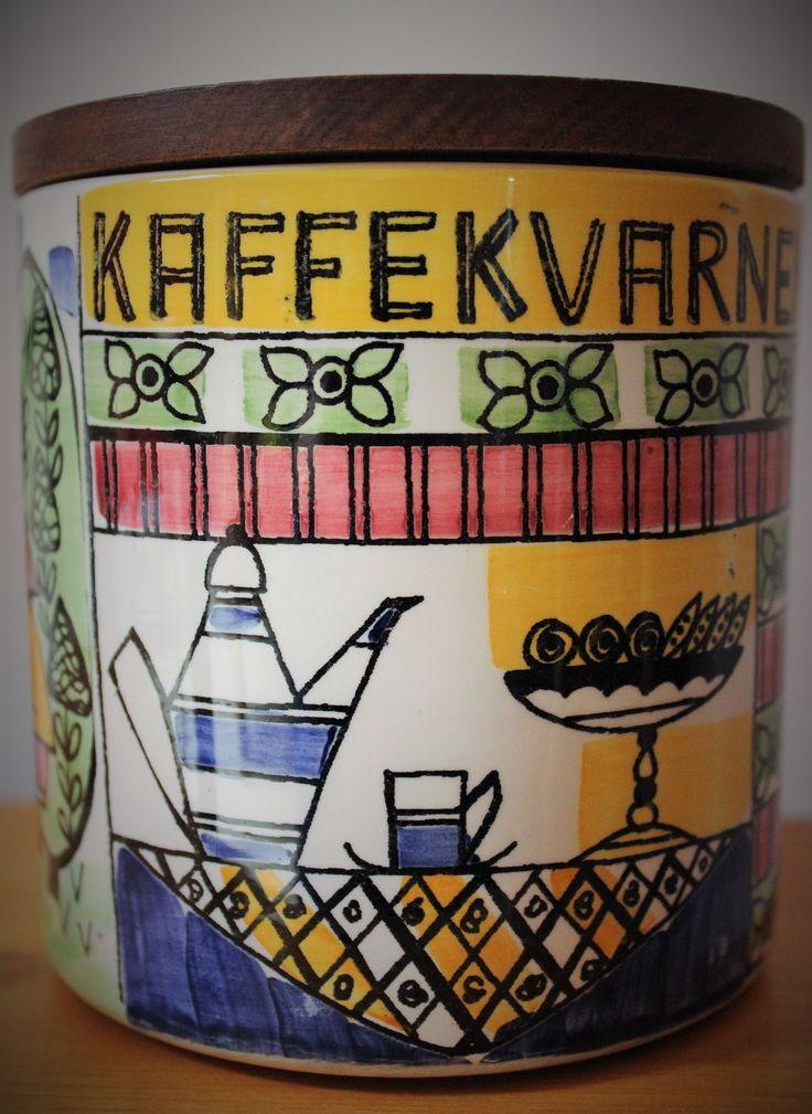 1950's Jie Gantofta Coffee Jar by Anita Nylund